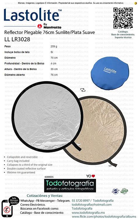 Lastolite LL LR3028 Reflector Plegable 76cm Sunlite Plata Suave (4200035)