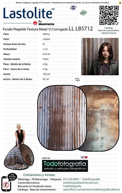 Lastolite LL LB5712 Fondo Plegable Textura Metal Corrugado 1.5 x 2.1 (4200140)