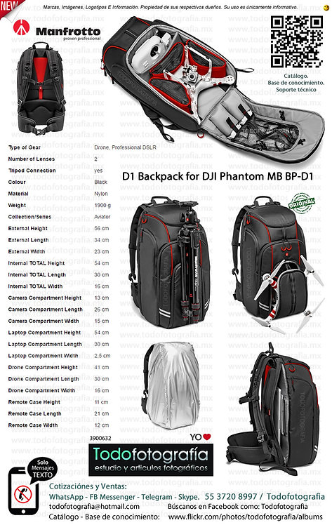Manfrotto MB BP D1 Mochila Para Dron DJI Phantom (3900632)