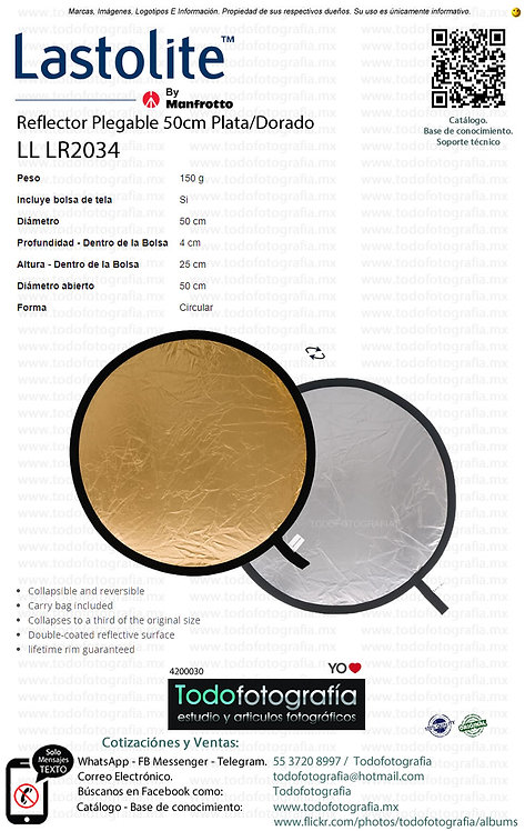 Lastolite LL LR2034 Reflector Plegable 50cm Plata Dorado (4200030)