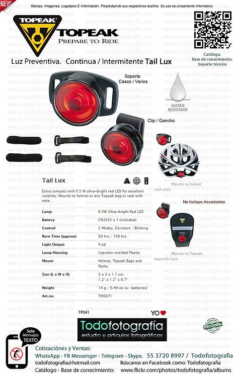 Topeak Tail Lux Luz preventiva ciclismo / filmaciones