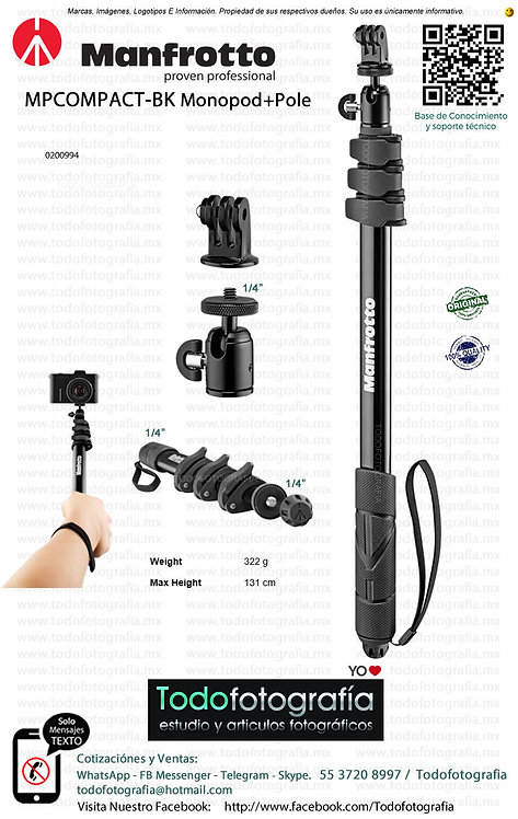 Manfrotto MPCOMPACT-BK Monopod+Pole (0200994)