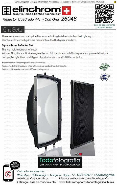 Elinchrom 26048 Square 44 cm Set Reflector Cuadrado 44cm Con Grid (1100096)