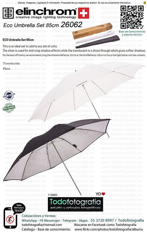 Elinchrom 26062 Kit Sombrilla Translucida y Plata 85cm (1126062)