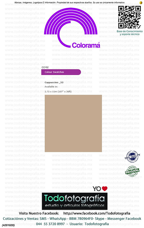 Colorama CO152 Cappuccino 2.72 x 11m (4201020)