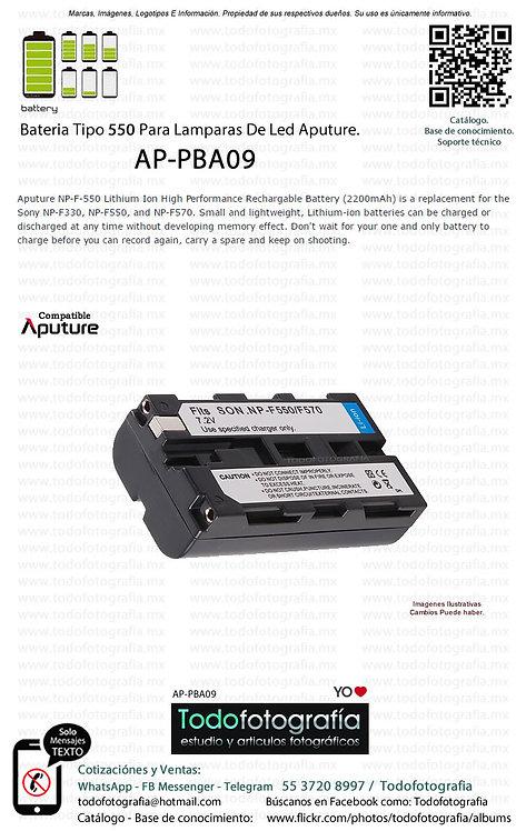 Aputure AP PBA09 Batería Tipo 550 Para Lamparas De Led Aputure (AP-PBA09)