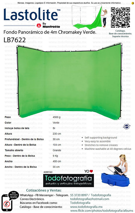 Lastolite LB7622 Fondo Panorámico de 4m Chromakey Verde (4200163)