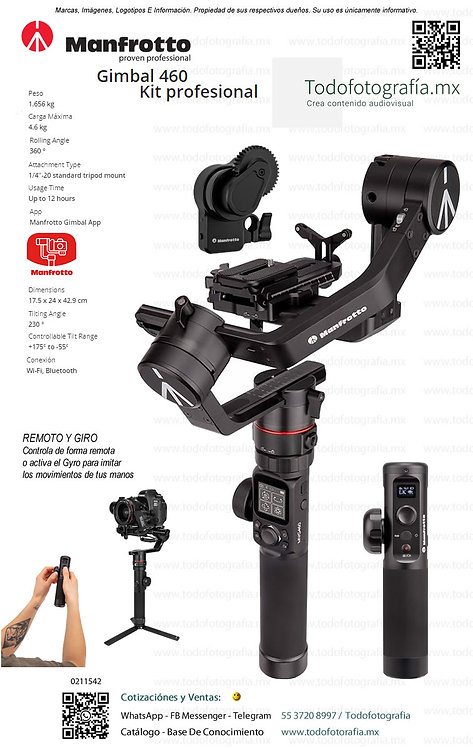 MVG460FFR PRO Gimbal Manfrotto 0211542