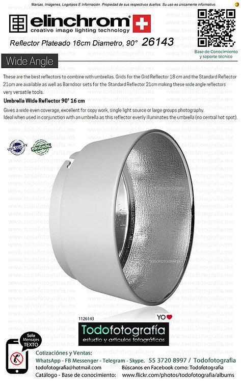 Elinchrom 26143 Reflector Plateado 16cm Diametro 90° (1126143)