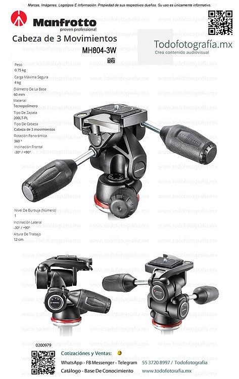 MH804-3W Manfrotto Cabezal Para Fotografia De 3 Movimientos (0200979)