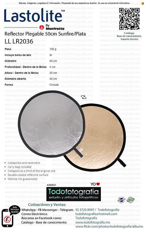 Lastolite LL LR2036 Reflector Plegable 50cm Sunfire Plata(4200031)