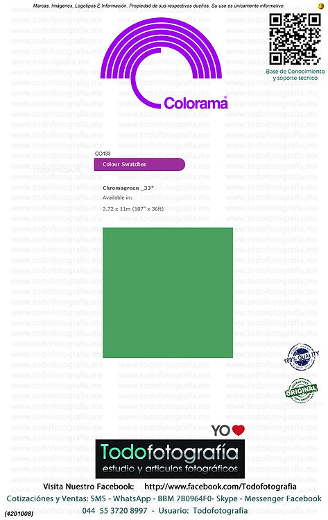 Colorama CO133 Verde Chroma 2.72 x 11m (4201008)