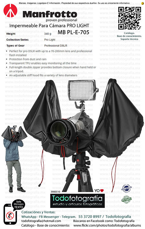 Manfrotto MB PL E 705 Impermeable Para Cámara Réflex Con Flash (3900510)