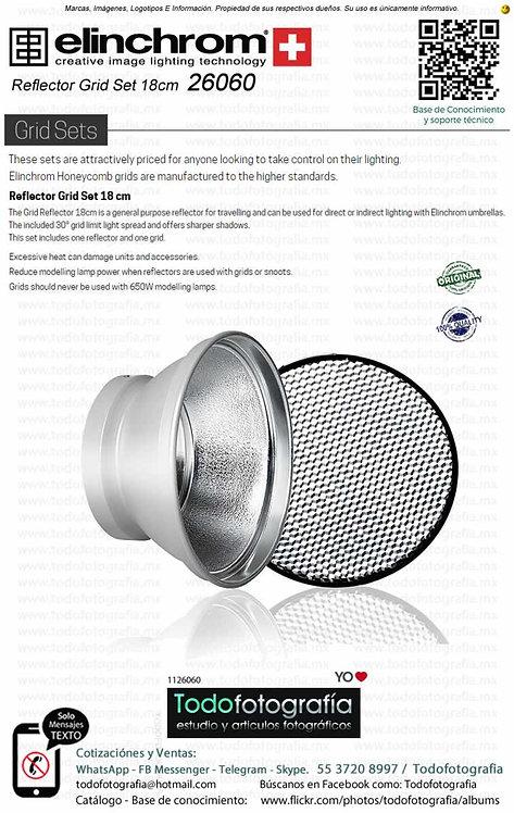 Elinchrom 26060 Reflector Grid Set 18cm Con Panel De Abeja (1126060)