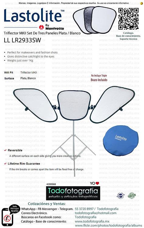Lastolite  LL LR2933SW Triflector MKII Set De 3 Plata Blanco y Brazo (4200068)