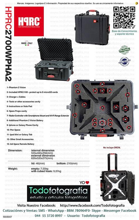 HPRC 2700WPHA2 Estuche Rígido Para DJI Phantom (5000007)
