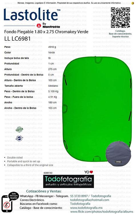 Lastolite LL LC6981 Fondo Plegable 1.8 x 2.1 Chomakey Verde (4200143)