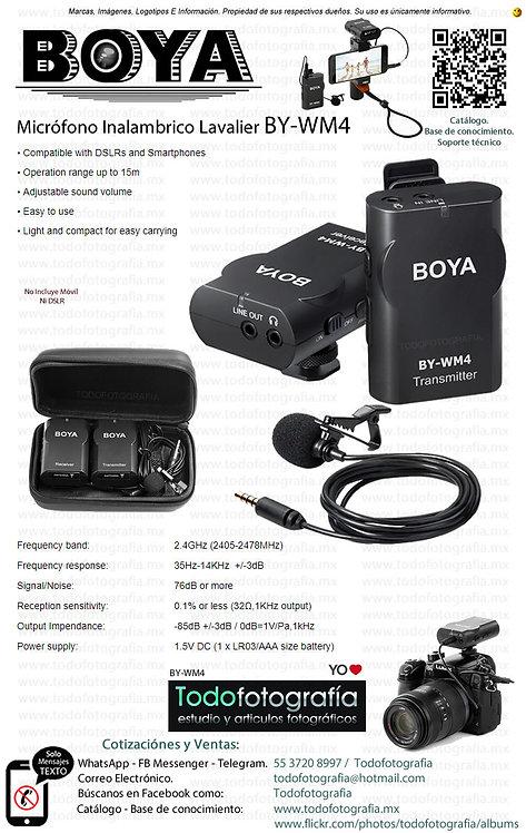 Boya BY-WM4 - Micrófono Inalambrico Lavalier
