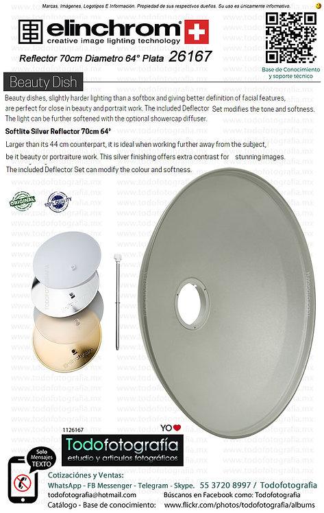 Elinchrom 26167 Reflector 70cm Diametro 64° Plata Beauty Dish (1126167)