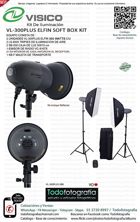 VISICO VL-300PLUS ELFIN SOFT BOX KIT