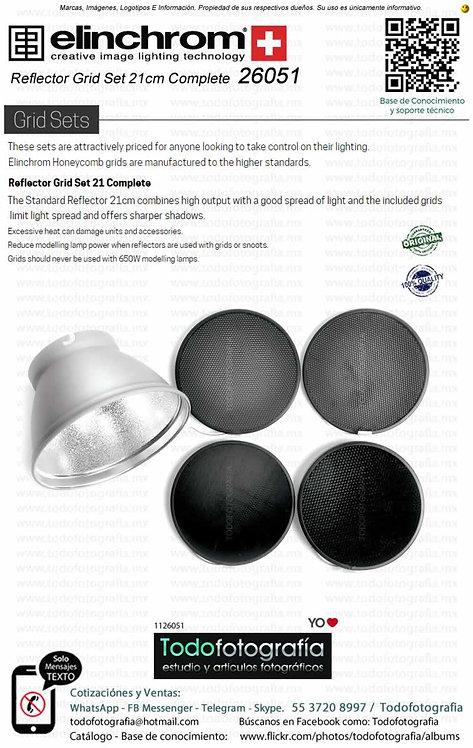 Elinchrom 26051 Reflector Grid Set 21cm 26141,26052,26053,26054,26055 (1126051)