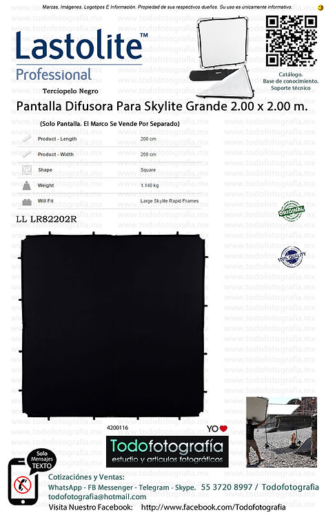 LL Lastolite LR82202R Pantalla Terciopelo Negro Skylite 2.00 x 2.00 m (4200116)