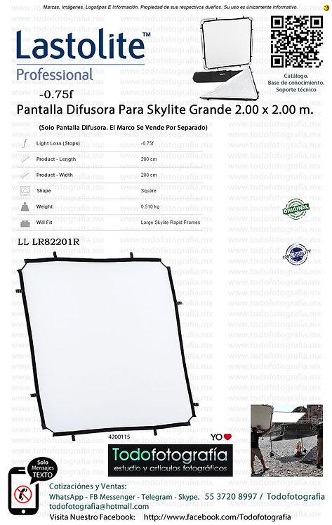 Lastolite LL LR82201R  Pantalla Difusora Tela Skylite 2.00 x 2.00 m (4200115)