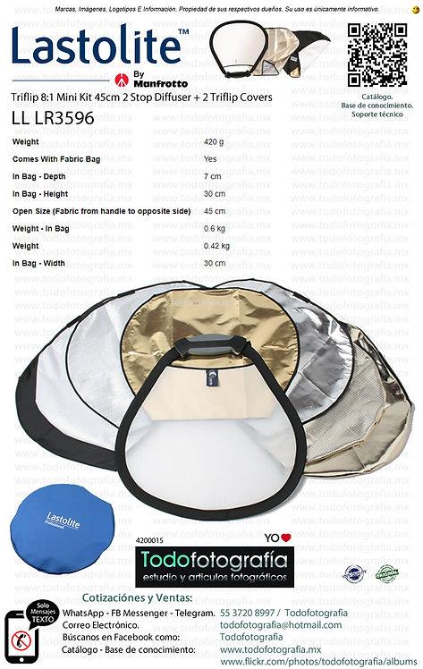 Lastolite LL LR3596 Triflip 8-1 Mini Kit 45cm 2 Stop Diffuser 2 Covers (4200015)