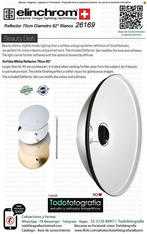 Elinchrom 26169 Reflector 70cm 82 grados Plateado Beauty Dish (1126169)