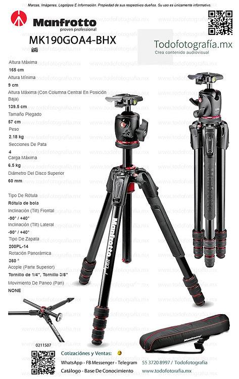 MK190GOA4-BHX Manfrotto Tripie Fotografia Todofotografia