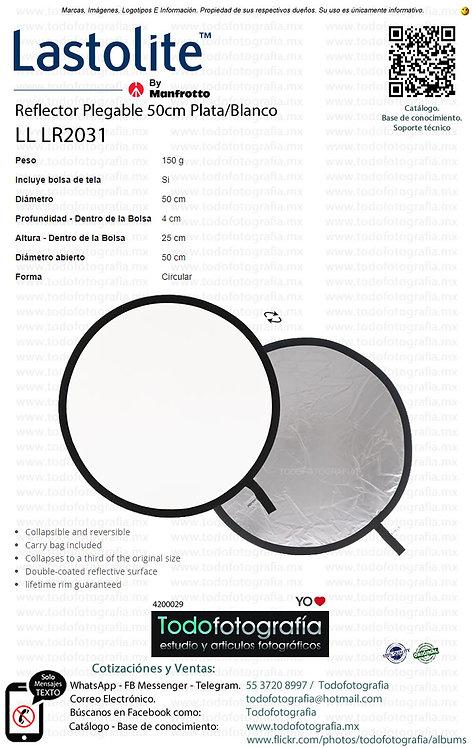 Lastolite LL LR2031 Reflector Plegable 50cm Plata Blanco (4200029)