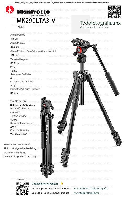MK290LTA3-V ManfrottoTripie Para Video (0201073)