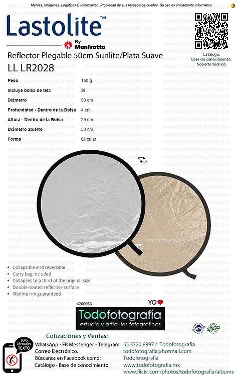 Lastolite LL LR2028 Reflector Plegable 50cm Sunlite-Plata Suave (4200033)
