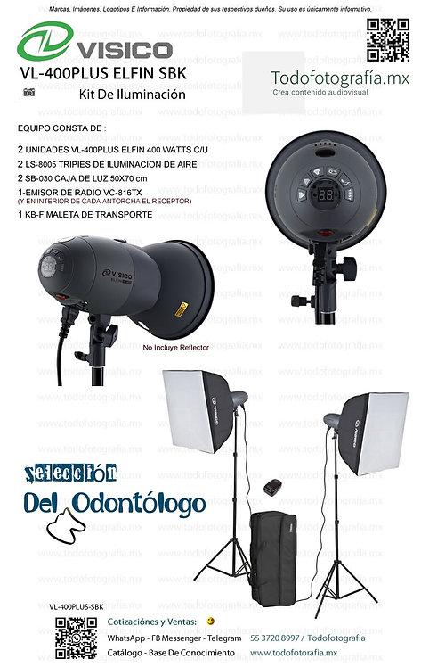 VL-400PLUS ELFIN SBK Visico Kit De Iluminacion Flash Todofotografia