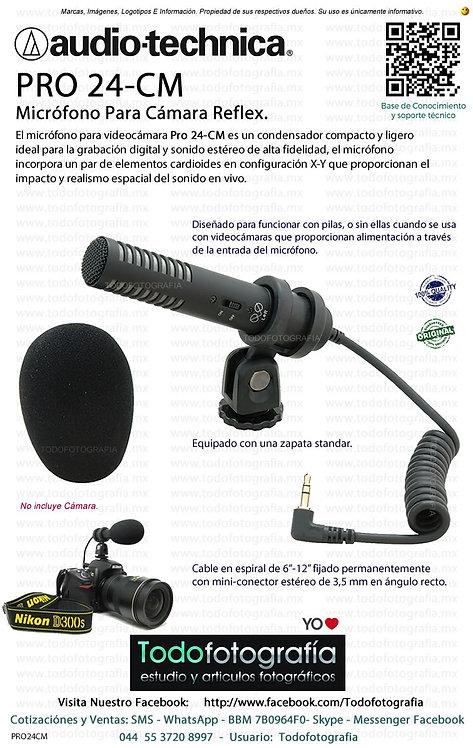 Audio Technica PRO 24 CM Microfono Para Camara Reflex