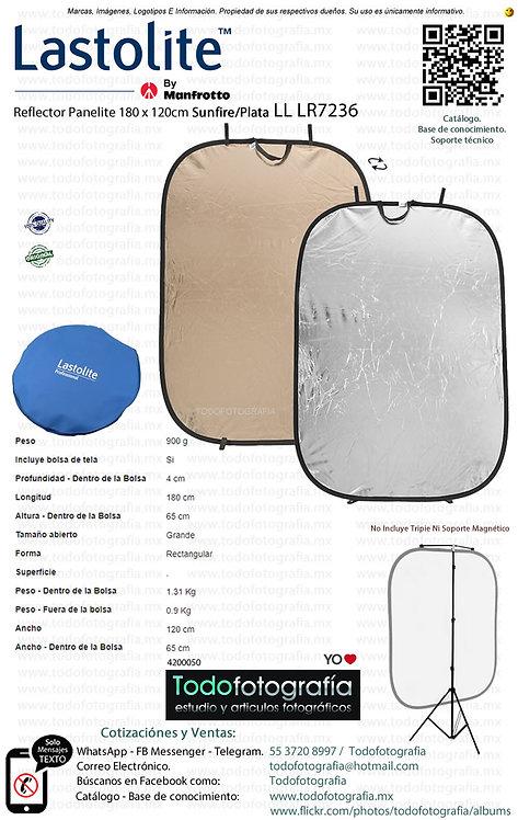 Lastolite LL LR7236 Reflector Panelite 180 x 120cm Sunfire-Plata (4200050)