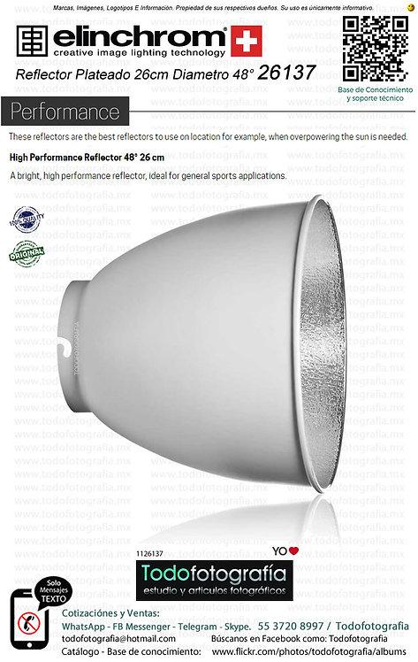 Elinchrom 26137 Reflector Plateado 26cm Diametro 48° (1126137)