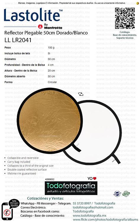 Lastolite LL LR2041 Reflector Plegable 50cm Dorado Blanco (4200032)
