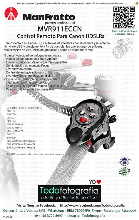 Manfrotto MVR911ECCN Control Remoto Para Canon HDSLRs (0200292)