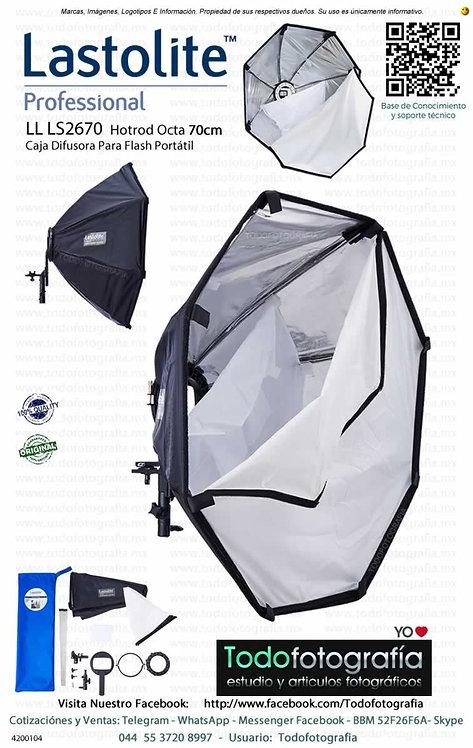 Lastolite LL LS2670 Hotrod Octa 70cm Caja Difusora Para Flash Portátil (4200104)