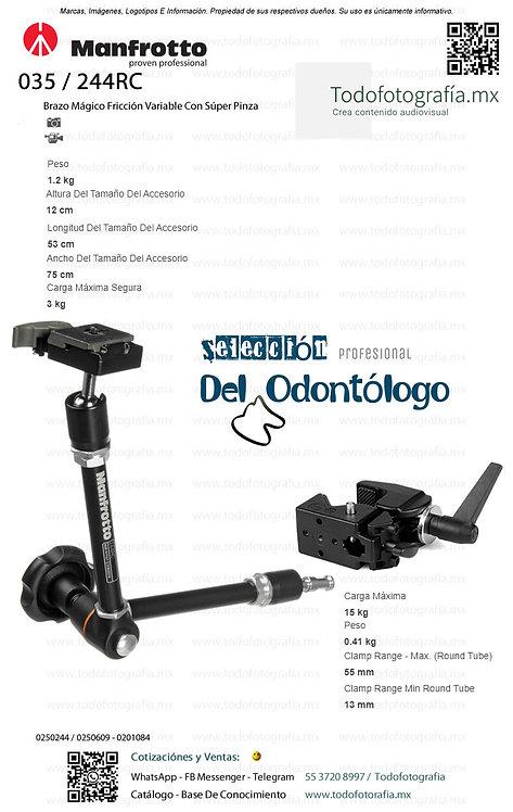 244RC / 035 Manfotto Soporte Para Unidad Dental (0250244 - 0250609 - 0201084)