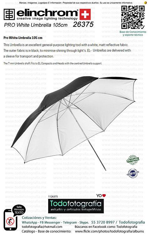 Elinchrom 26375 Sombrilla PRO Blanca 105cm (1126375)