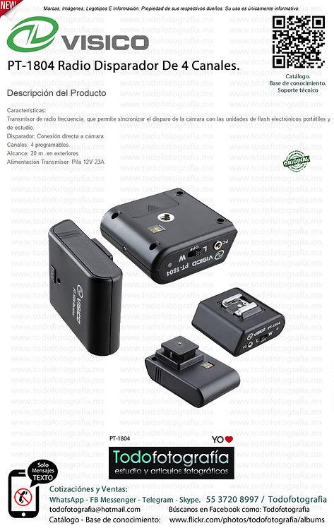 VISICO PT-1804 Radio Disparador De 4 Canales (PT-1804)
