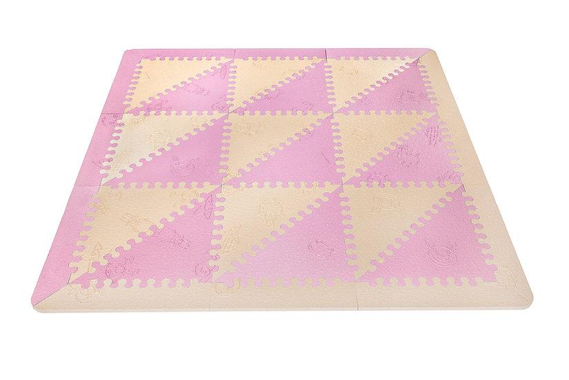 Alfombra extra acolchada LÜ BABYMATS rosa/beige