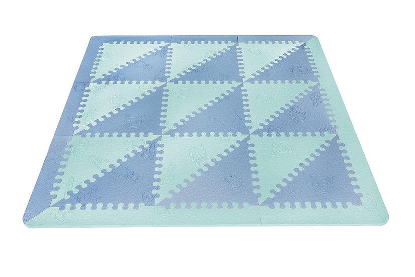 Alfombra Lubabymats Mint/Azul