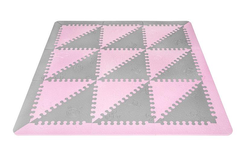 Tappeto bambini LÜ BABYMATS rosa/grigio