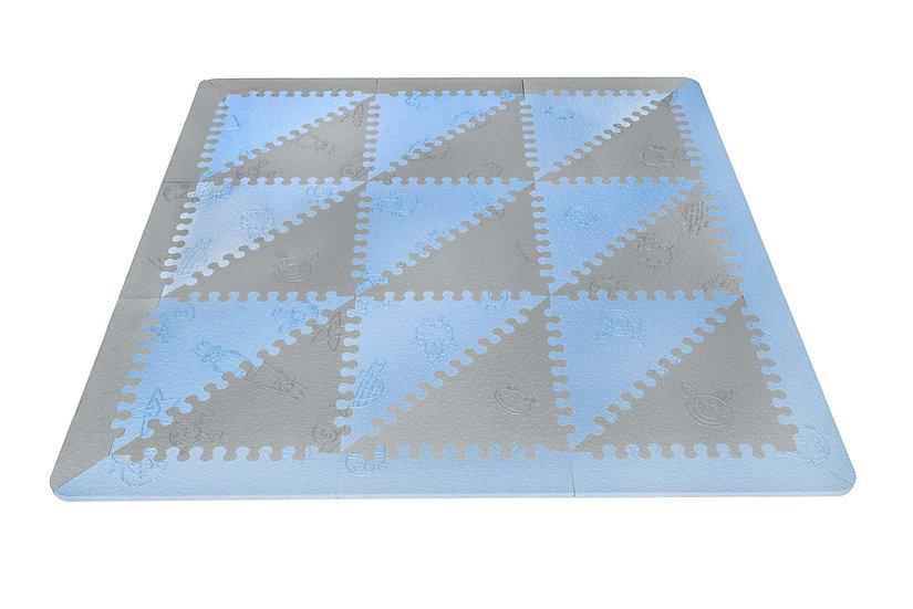 Pavimenti imbottito LuBABYMATS azzuro/grigio