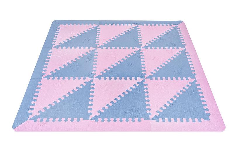 Alfombra foam LÜ BABYMATS rosa/azul