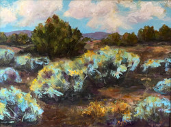 Turquoise Afternoon oil Amelia Myer
