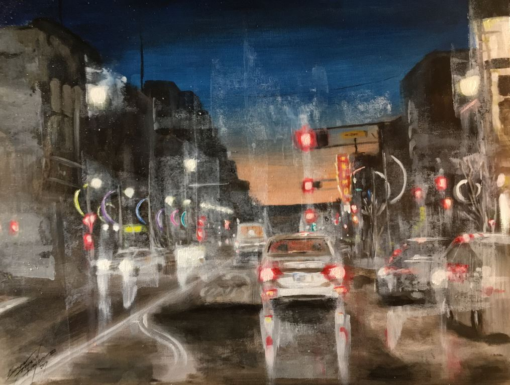 Hayes Central Downtown Albuquerque (oil)